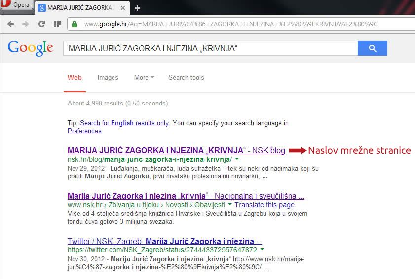 Naslov mrežne stranice