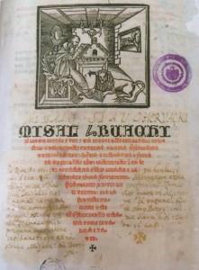 Misal hruacki, prva stranica. Nacionalna i sveučilišna knjižnica u Zagrebu.