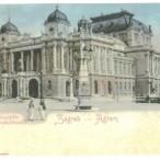 Stara razglednica Zagreba iz fonda Grafičke zbirke Nacionalne i sveučilišne knjižnice u Zagrebu.