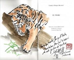 """Detalj s posvetom iz zbirke """"El Tigre"""" (fotografija preuzeta sa stranice http://cuadernosdepintor.blogspot.hr/)."""
