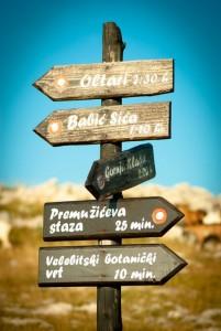 Putokaz sa sjevernog Velebita. Autorica fotografije: Dobrila Zvonarek.