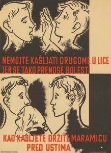 Nemojte kašljati drugome u lice... Zagreb: Odsjek za zdrav. prosvjećivanje Ministarstva narod. zdravlja N.R. Hrvatske, [1946-1956?]